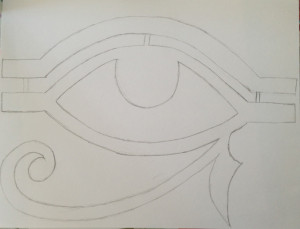 stencil of the eye of Ra