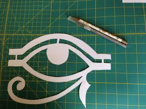 Eye of Ra stencil