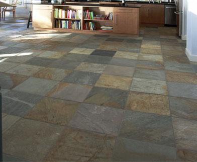 golden sand quartzite tile floors, dream kitchen