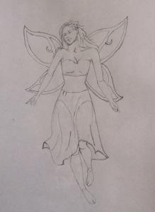 fairy drawing, art