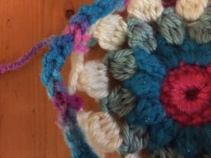Crochet hexagon afghan row 6